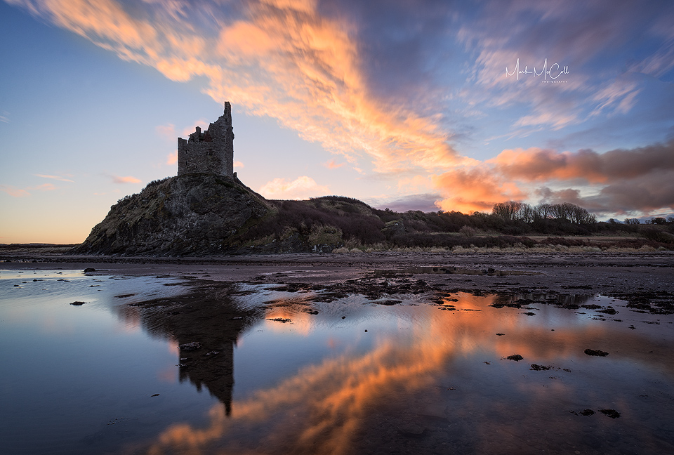 Dawn at Greenan Castle, Ayrshire, Scotland
