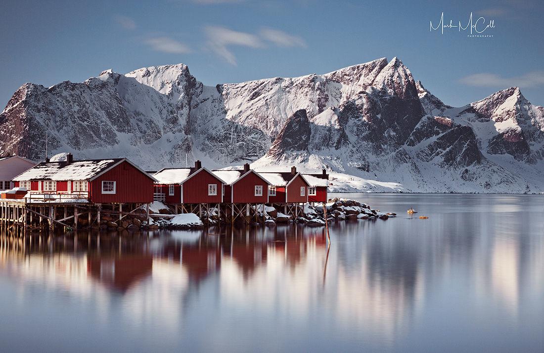 Winter morning, Hamnoy, Lofoten Islands