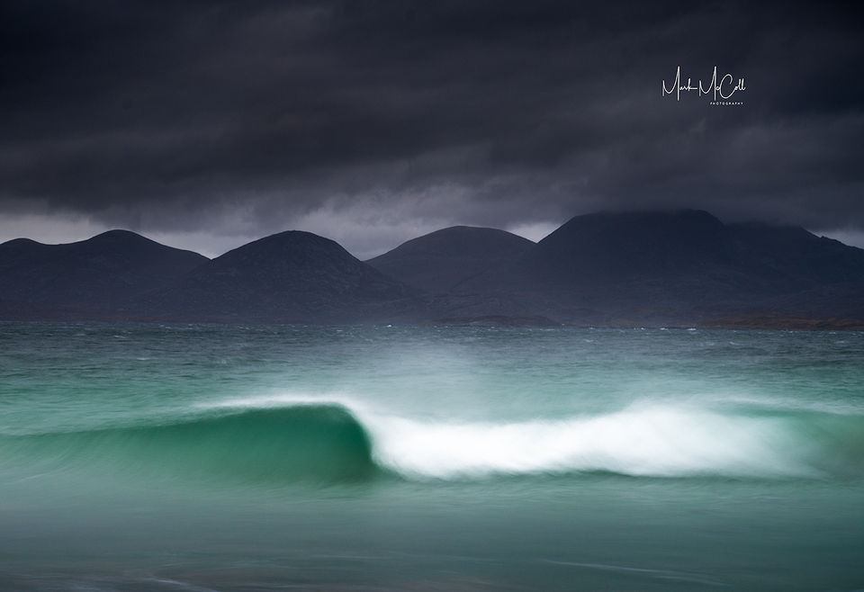 The wave, Harris, Outer Hebrides, Scotland