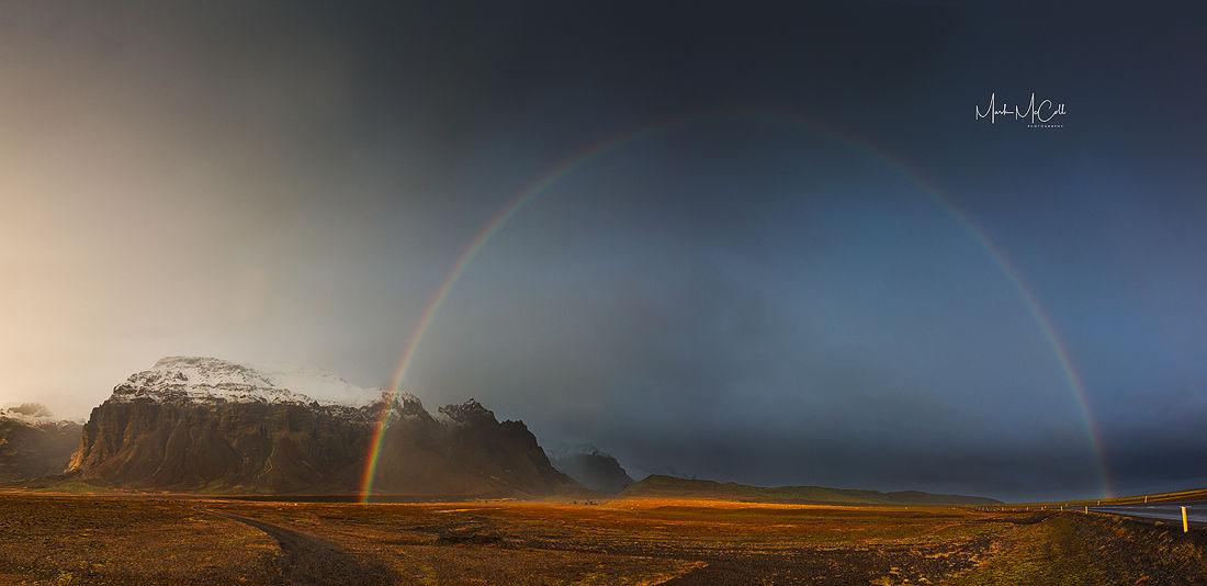Rainbow, near Jokularslon, Iceland