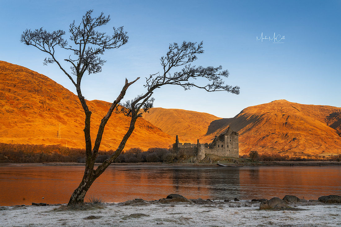Orange and blue, Kilchurn Castle, Scottish Highlands