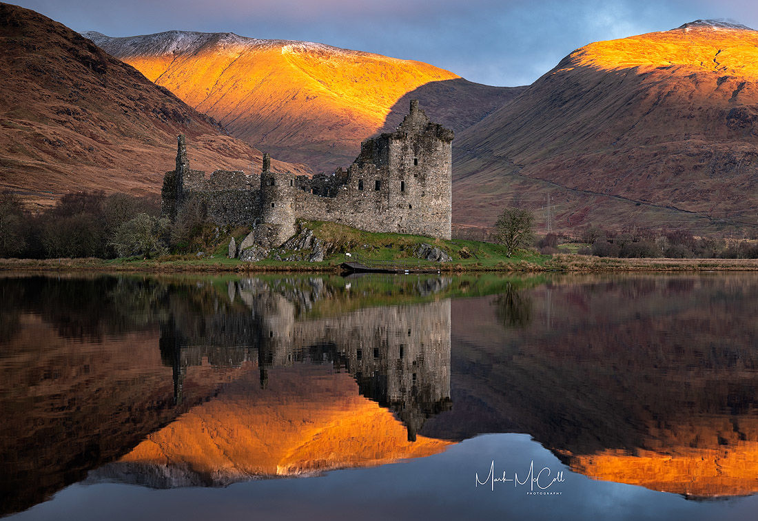 First light, Kilchurn castle, Loch Awe, Scotland