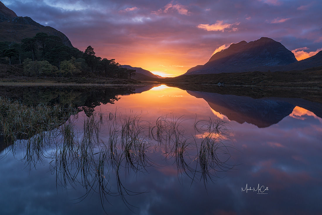 Colours and reflections, Loch Clair, Torridon, Scotland
