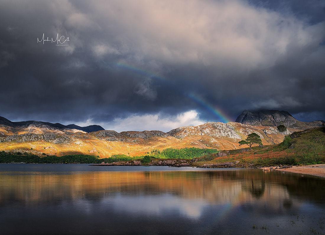 Rainbow over Loch Maree and Slioch, Torridon, Scotland