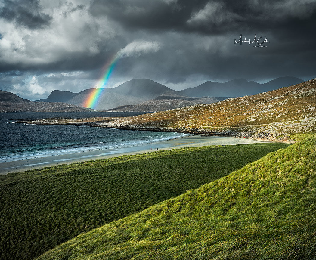 Luskentyre Rainbow, Outer Hebrides, Scotland