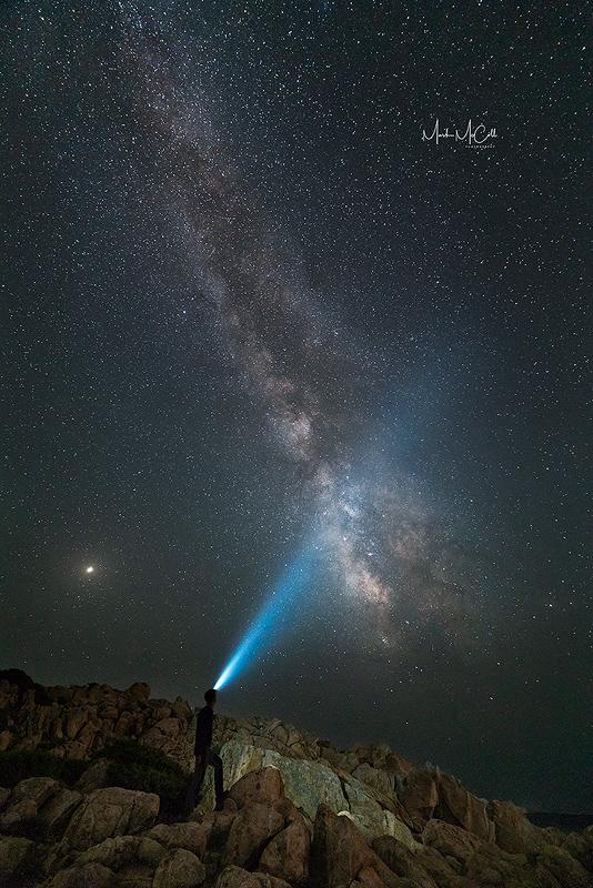 Three M's...Milky way, Mars, and Me...Cala Cippola, Sardinia