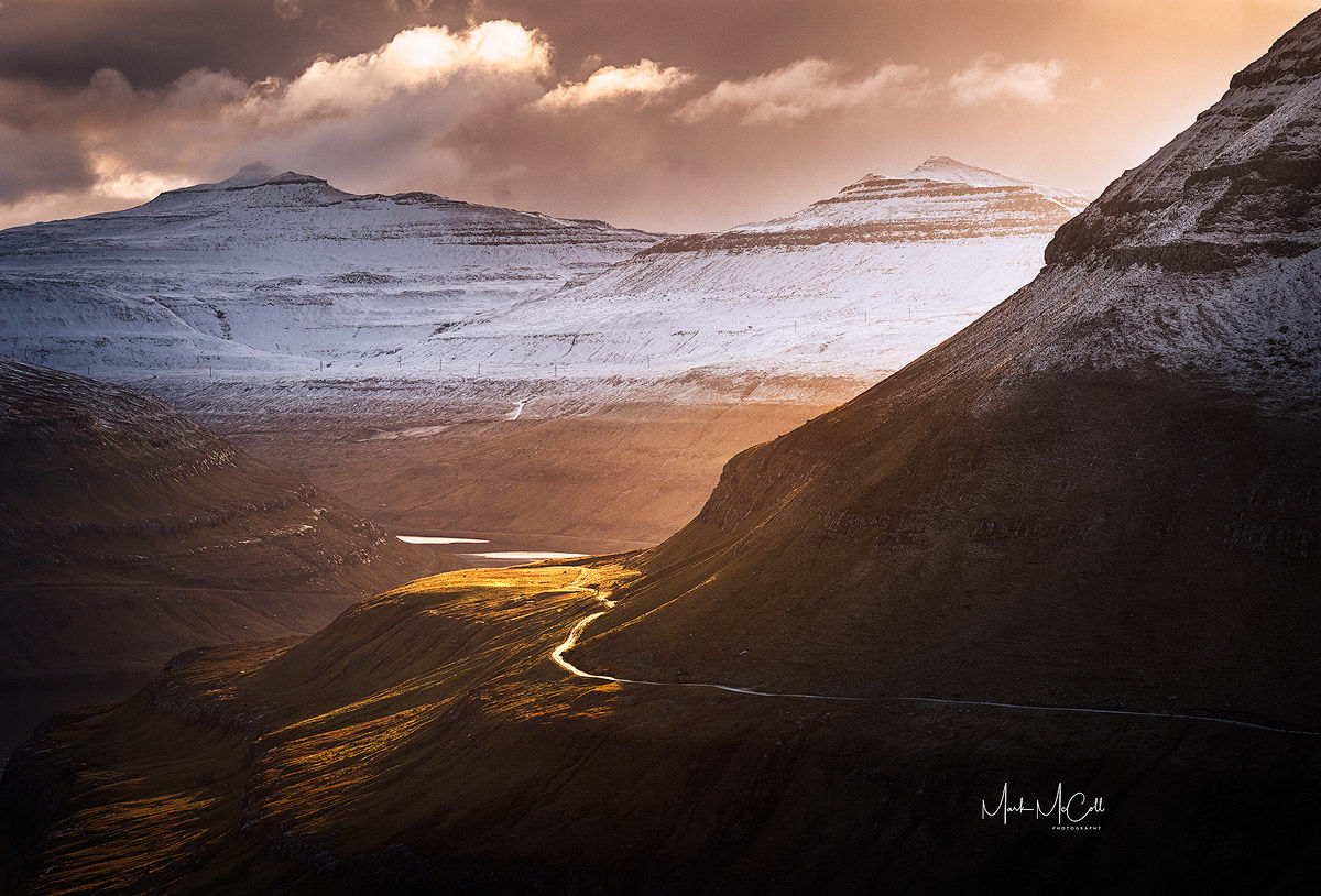 Mountain light, Faroe islands