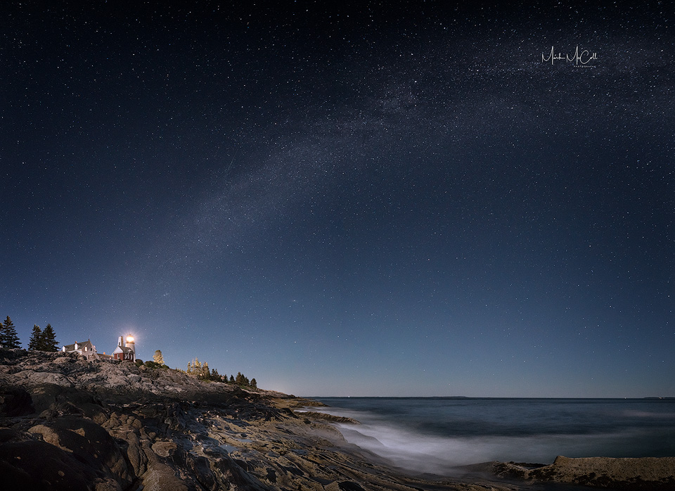 Pemaquid Light and the Milky Way, Maine, USA