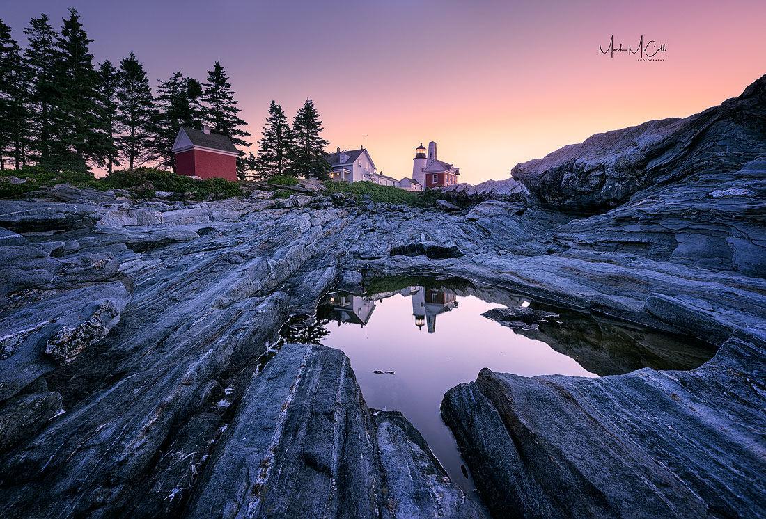 Pemaquid reflections at dawn, Maine, USA