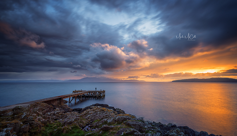 Summer sunset, Portencross, Ayrshire, Scotland