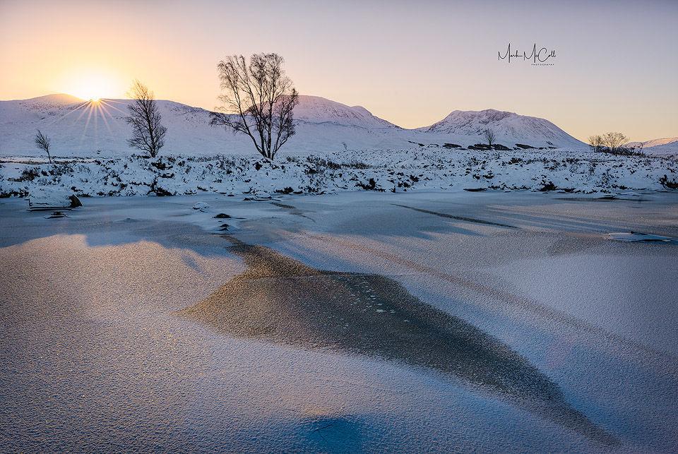 Rannoch moor dawn, Glencoe, Scotland