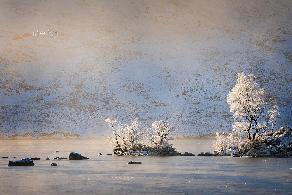 Against the mist, Rannoch Moor, Glencoe, Scotland