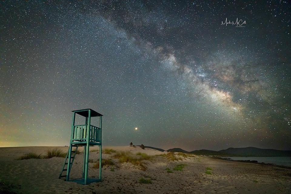 Milky Way near Porto Pino, Sardinia, Italy