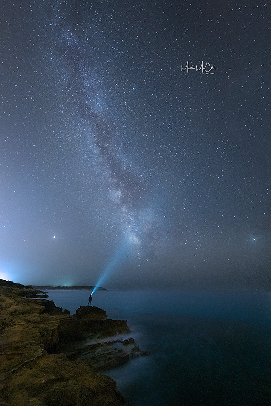 Me, the milky way, and Mars....Sardinia, Italy