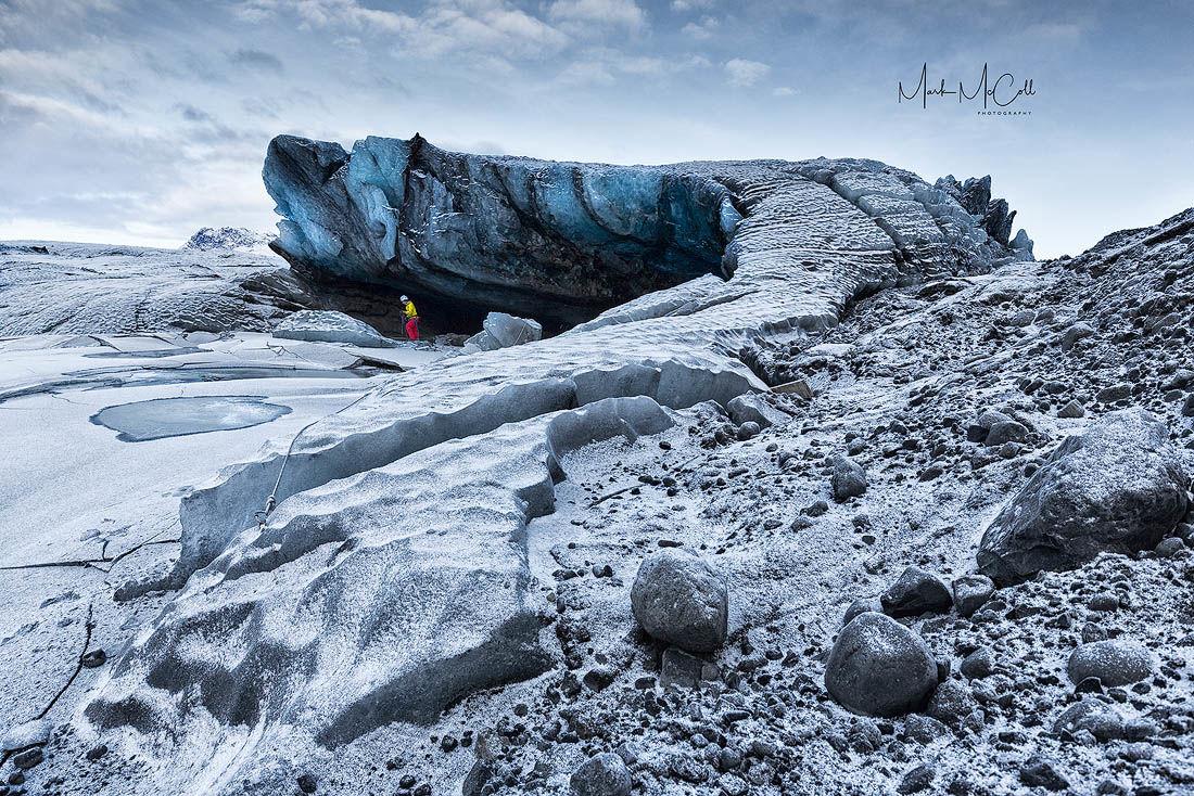 Frozen dragon, Vatnajokul, Iceland