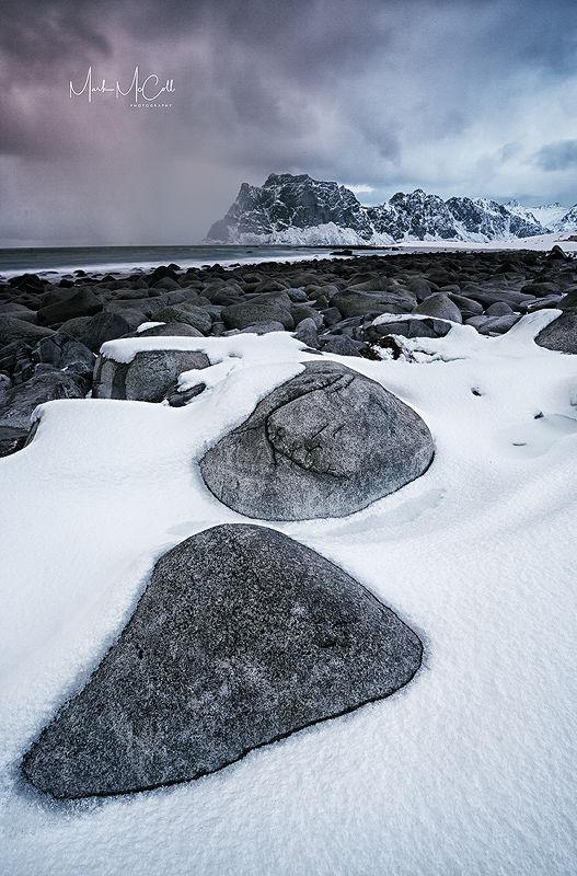 Stepping stones, Utakliev, Lofoten Islands, Norway