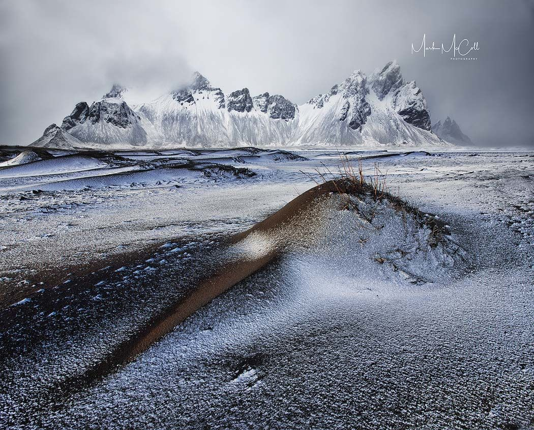Clearing storm, Stokksnes, Iceland