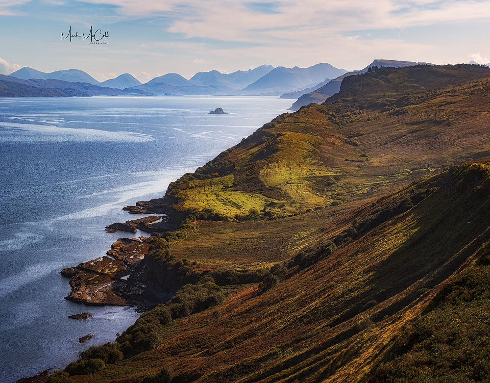The Cuillins from near Staffin, Isle of Skye, Scotland