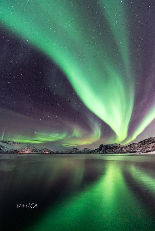Tromvik aurora, Tromso, Arctic Norway