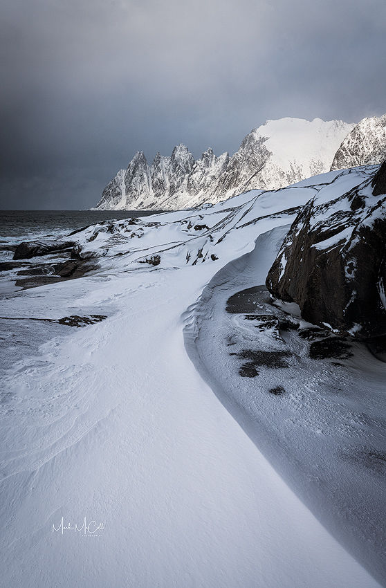 Winter snow, Tungeneset, Senja, Arctic Norway