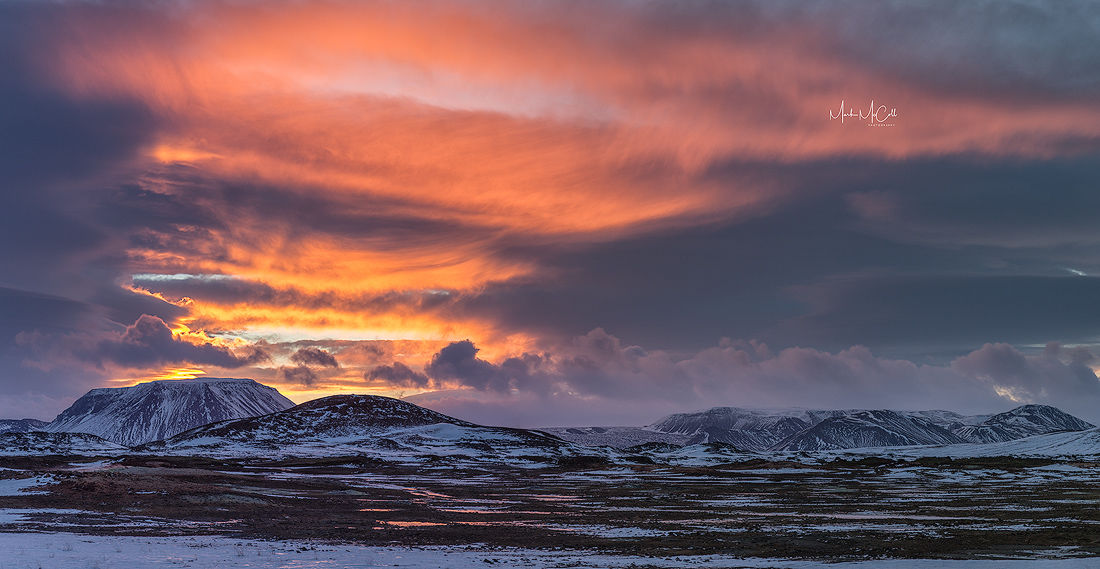 Volcanic sunrise, Northern Iceland