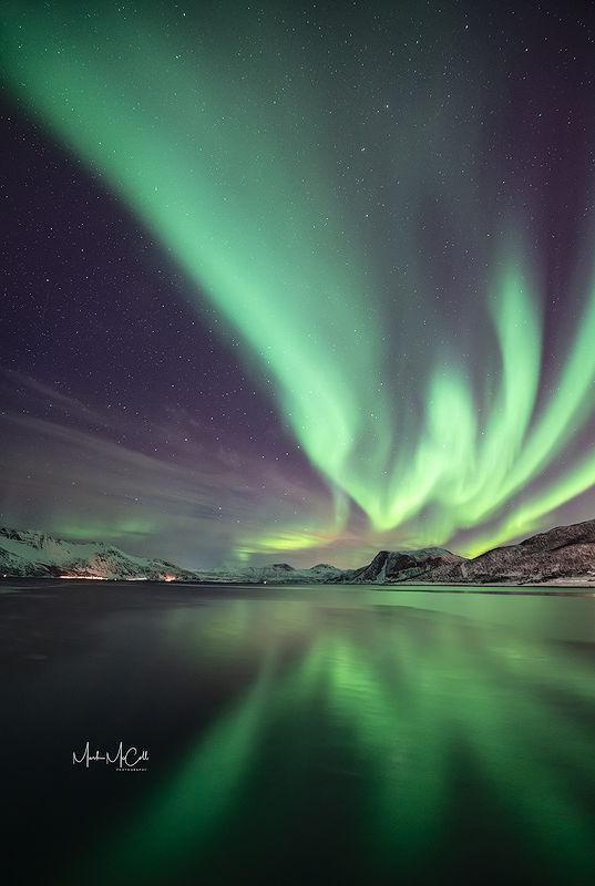 Aurora Borealis at Tromvik, Tromso, Arctic Norway