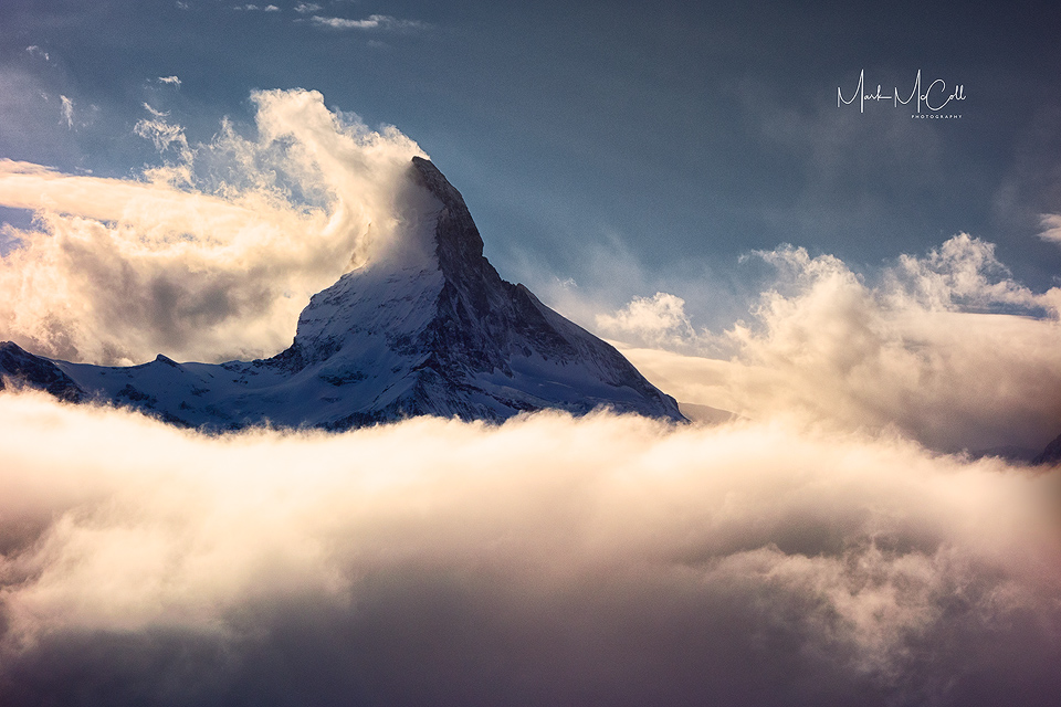 Matterhorn in the clouds, Switzerland