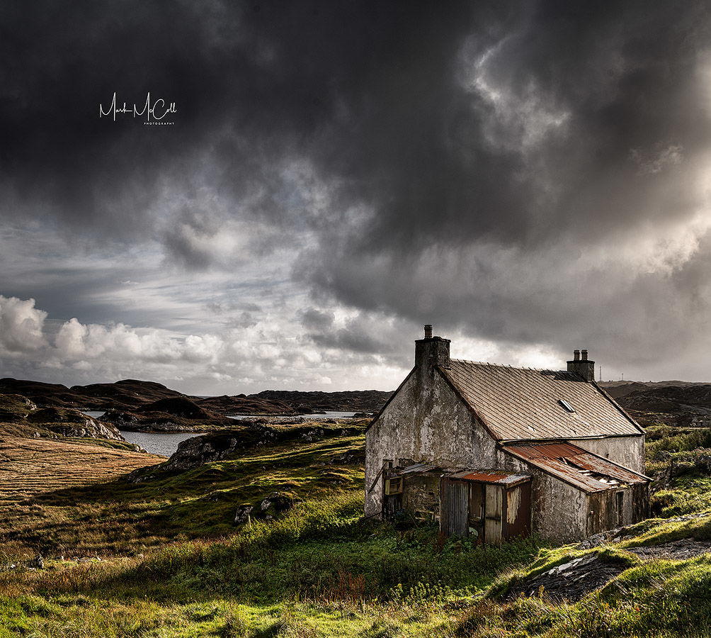 Falling apart, Harris, Outer Hebrides