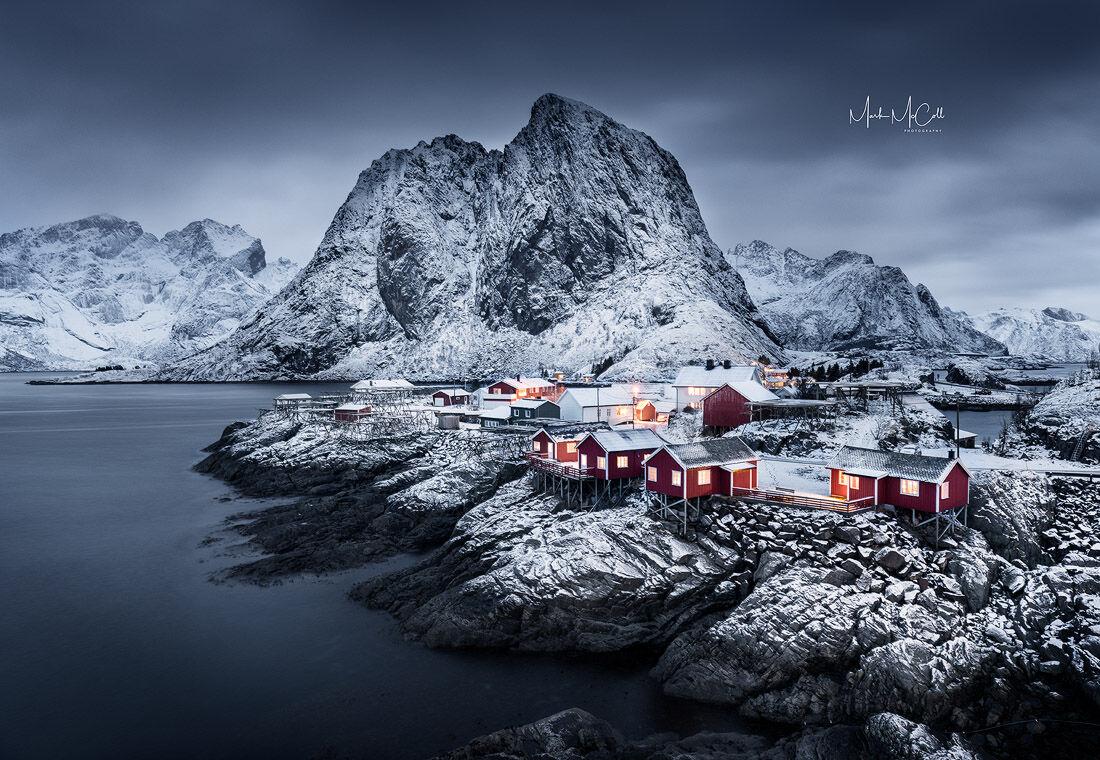 Before dawn, Hamnoy, Lofoten Islands, Arctic Norway