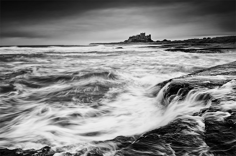 Winter storm, Bamburgh Castle, Northumberland