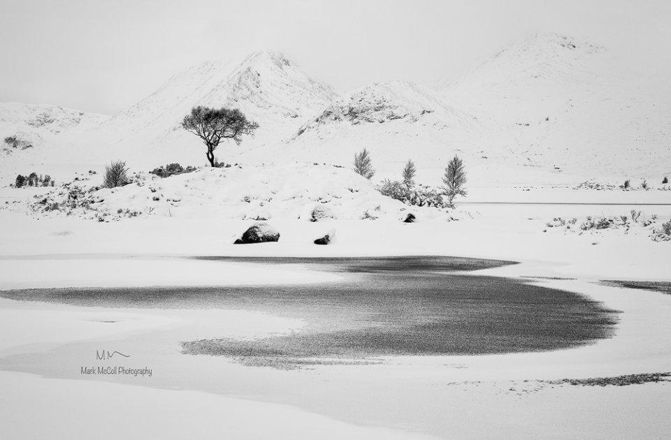Winters grip, Rannoch Moor, Glencoe, Scotland