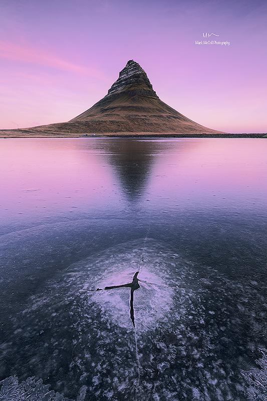 Pink dawn, Kirkjufell, Iceland