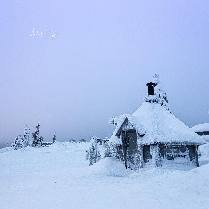 Winter Cabin, arctic Finland
