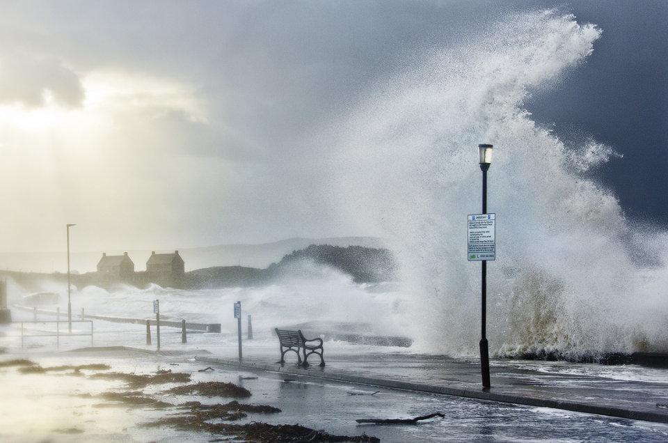 Ayrshire storm, Prestwick, Ayrshire, Scotland