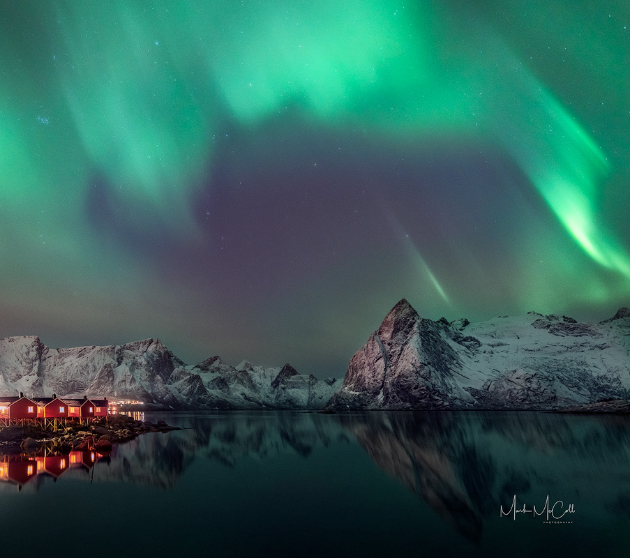 Hamnoy Aurora, Lofoten Islands, Arctic Norway