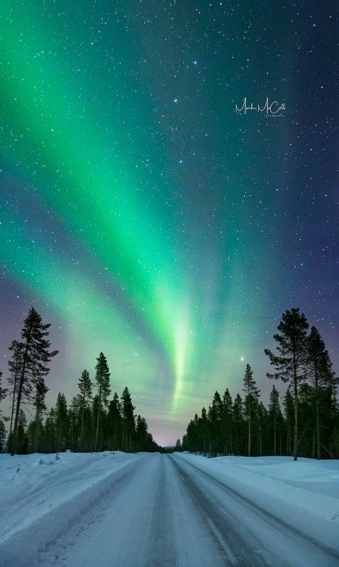 Aurora Road, arctic Sweden