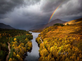 Glen Affric Rainbow, Highland, Scotland