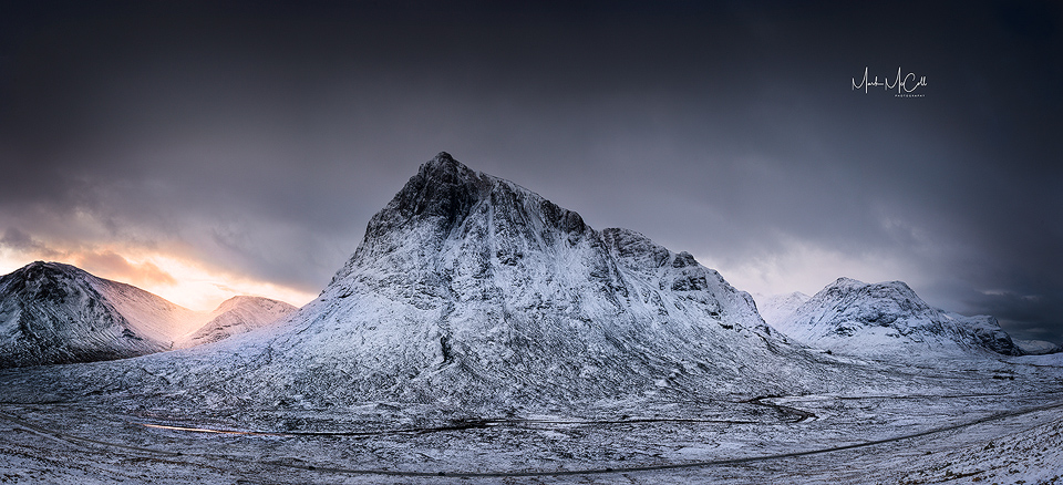 Winter in Glencoe panorama, Glencoe, Scotland