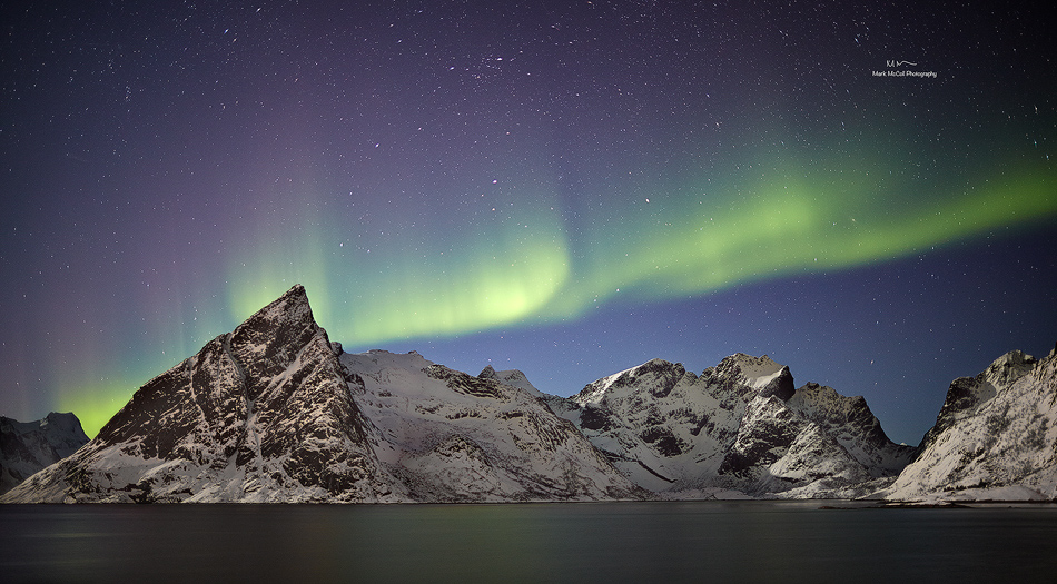 Aurora near Hamnoy, Lofoten islands