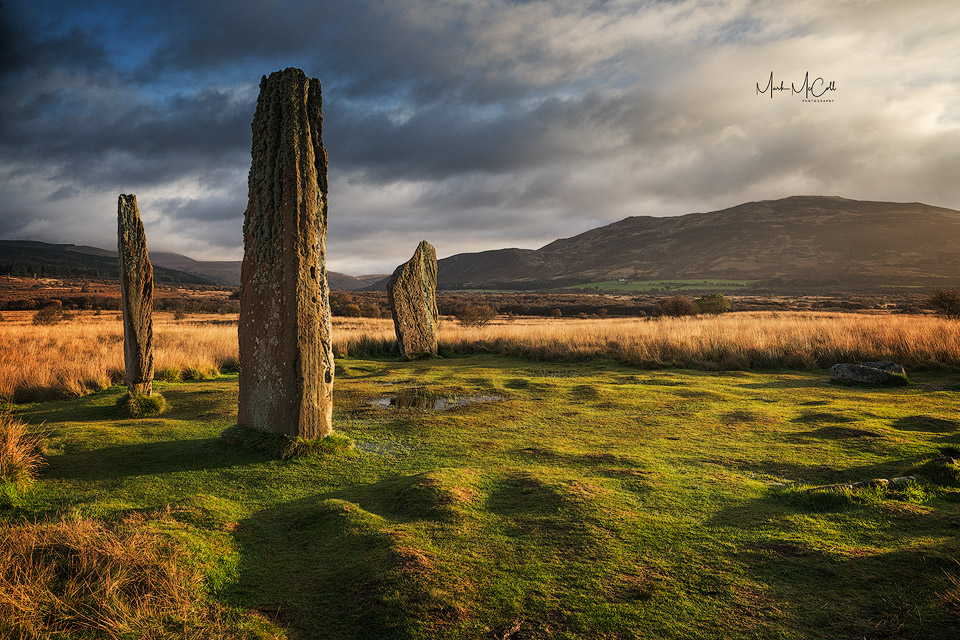Morning light, Machrie Moor standing stones, Isle of Arran