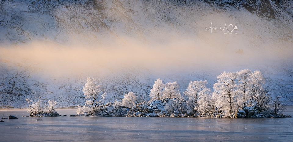 Clearing mist, Rannoch Moor, Glencoe, Scotland
