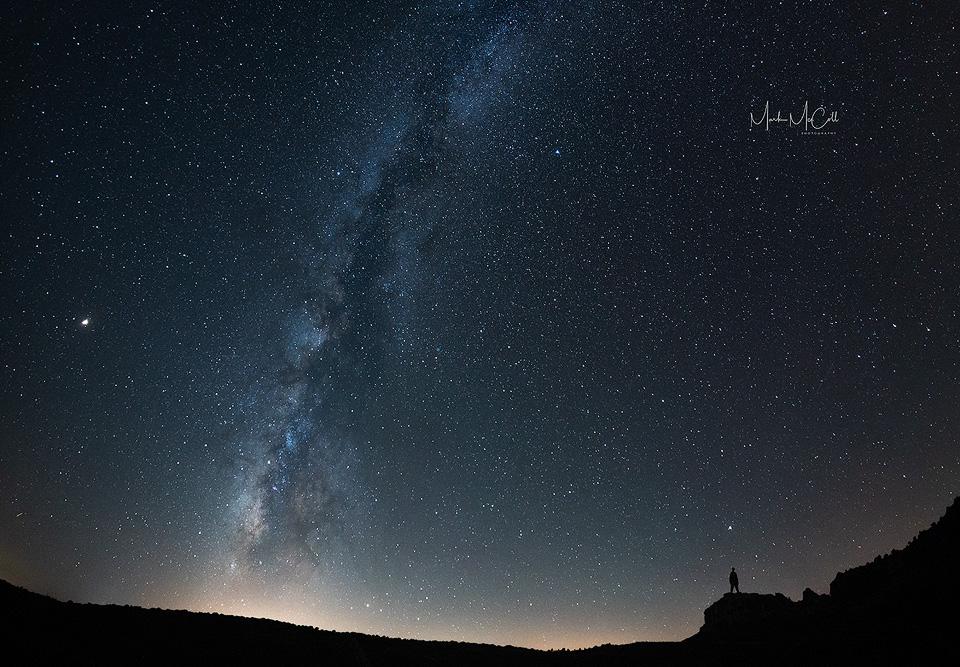 Milky Way silhouette, Sardinia