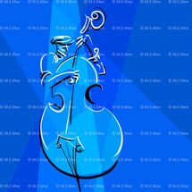 Bass Blues Digital painting Unlimited prints available by M Mee