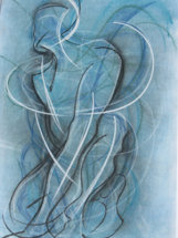 Blue Dancer by M Mee  Pastel on paper