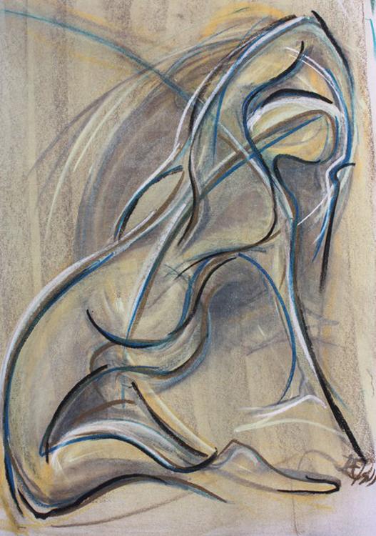 Dancer Pastel on paper by Margaret Mee