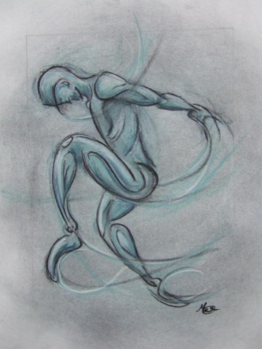 Llittle_Dancer4_Pastel_on_paper_by_Margaret_Mee