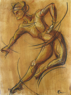 May I Have This Dance by M Mee  Pastel on paper