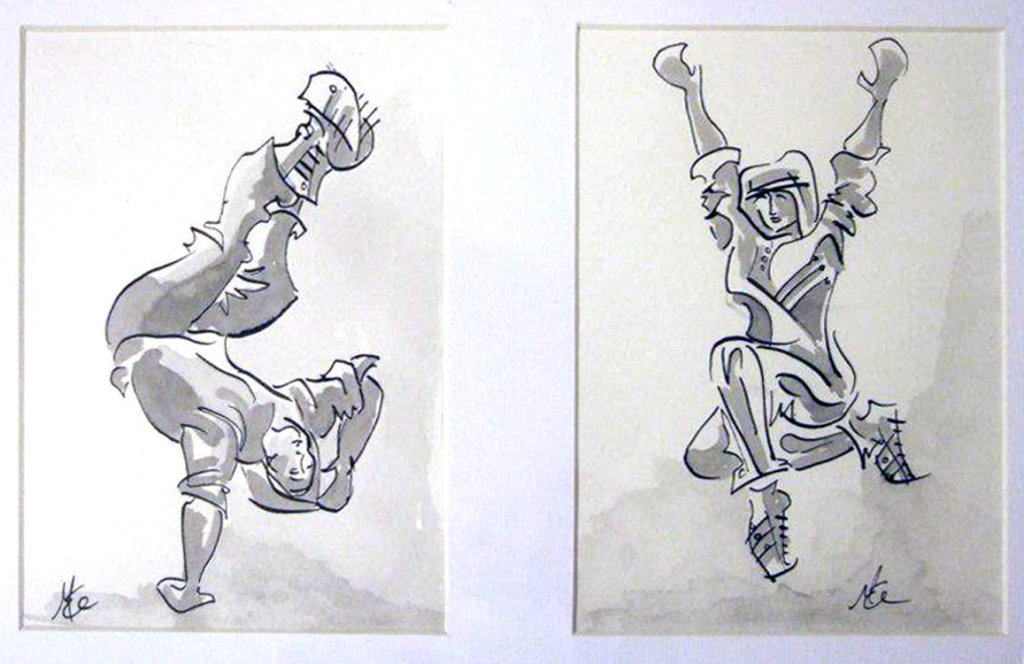 Streetdance2_Pen_and_ink_wash_on_paper_by_Margaret_Mee