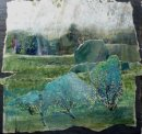 'Light in the trees' mixed media collage