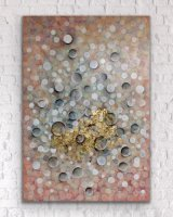 Bubbly in my Head 70 x 100 cm Mixed Media